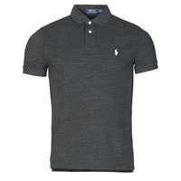 material Men short-sleeved polo shirts Polo Ralph Lauren POLO AJUSTE DROIT EN COTON BASIC MESH LOGO PONY PLAYER Black / Marl / Heather