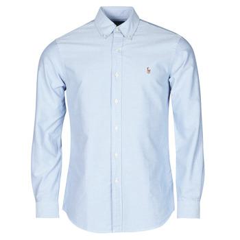material Men long-sleeved shirts Polo Ralph Lauren LORENZ Blue