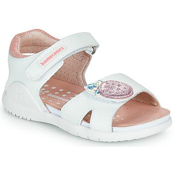 Shoes Girl Sandals Biomecanics 212163 White / Pink