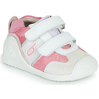 Shoes Girl Low top trainers Biomecanics 212123 White / Pink