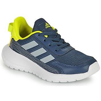 Shoes Boy Low top trainers adidas Performance TENSAUR RUN K Blue / Yellow