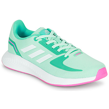 Shoes Girl Low top trainers adidas Performance RUNFALCON 2.0 K Turquoise / Pink