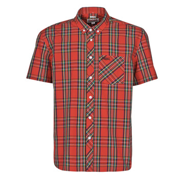 material Men short-sleeved shirts Lonsdale 113711-8311 Red