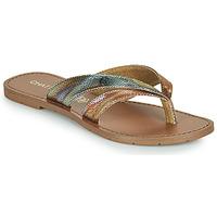 Shoes Women Flip flops Chattawak KALINDA Gold / Multicolour