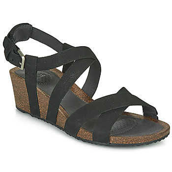 Shoes Women Sandals Teva MAHONIA WEDGE CROSS STRAP Black