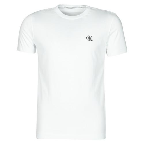 material Men short-sleeved t-shirts Calvin Klein Jeans YAF White