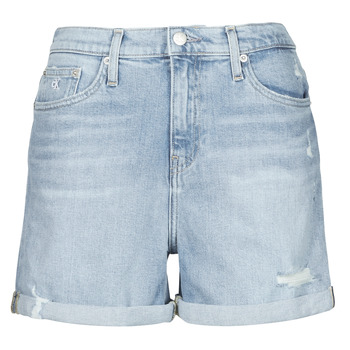 material Women Shorts / Bermudas Calvin Klein Jeans MOM SHORT Blue / Clear