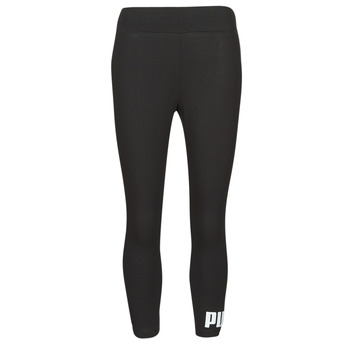 material Women leggings Puma ESS 3/4 LOGO LEGGING Black