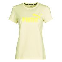 material Women short-sleeved t-shirts Puma ESS Logo Tee (s) Yellow