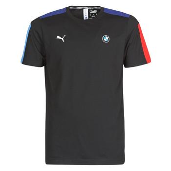 material Men short-sleeved t-shirts Puma BMW MMS T7 Tee Black