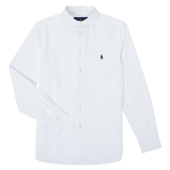 material Boy long-sleeved shirts Polo Ralph Lauren CAMIZA White