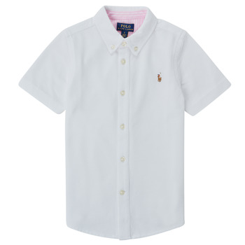 material Boy short-sleeved shirts Polo Ralph Lauren CAMISSA White
