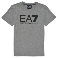 material Boy short-sleeved t-shirts Emporio Armani EA7 3KBT53-BJ02Z-3905 Grey
