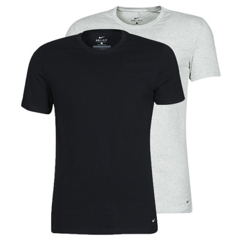 material Men short-sleeved t-shirts Nike SS CREW NECK X2 Black / Grey / Black