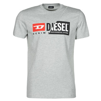 material Men short-sleeved t-shirts Diesel 00SDP1-0091A-912 Grey