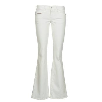 material Women bootcut jeans Diesel D-EBBEY White / Broken