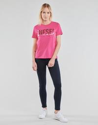 material Women Skinny jeans Diesel SLANDY Blue / Dark