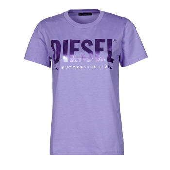 material Women short-sleeved t-shirts Diesel 00SYW8-0CATJ-64F Violet
