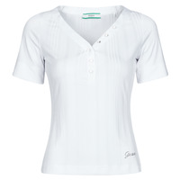 material Women short-sleeved t-shirts Guess SS LETICIA TOP White