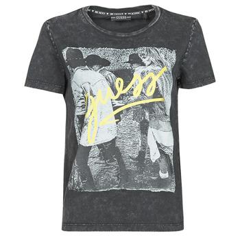 material Women short-sleeved t-shirts Guess SS CN PAULA TEE Black