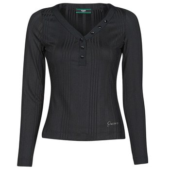 material Women Long sleeved shirts Guess LS URSULA TOP Black
