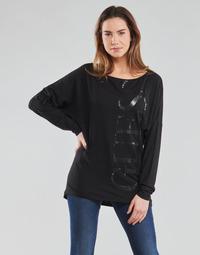 material Women Long sleeved shirts Guess LS KAROLINA TEE Black