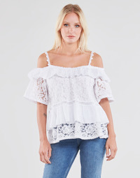 material Women Blouses Guess SS NEW OLIMPIA TOP White