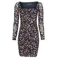 material Women Short Dresses Guess GAYLE DRESS Black / Leo