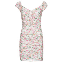 material Women Short Dresses Guess INGRID DRESS Pink / Clear
