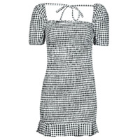 material Women Short Dresses Guess AIDA  DRESS Black / White