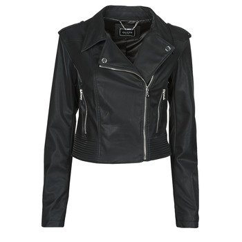 material Women Leather jackets / Imitation leather Guess NEW KHLOE JACKET Black