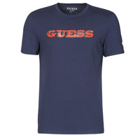 material Men short-sleeved t-shirts Guess GUESS PROMO CN SS TEE Marine