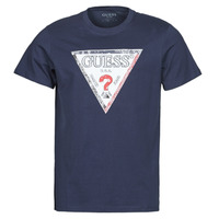 material Men short-sleeved t-shirts Guess TRIESLEY CN SS TEE Marine