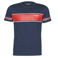 material Men short-sleeved t-shirts Guess CN SS TEE Marine / Red