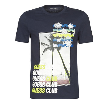 material Men short-sleeved t-shirts Guess GUESS CLUB CN SS TEE Marine
