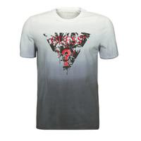 material Men short-sleeved t-shirts Guess PALM BEACH CN SS TEE Black