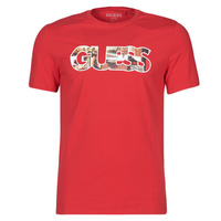 material Men short-sleeved t-shirts Guess PHOTOSHOW CN SS TEE Red
