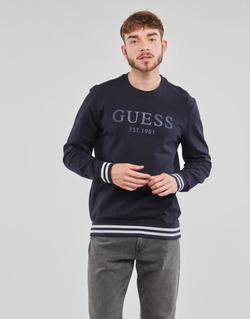 material Men sweaters Guess BEAU CN FLEECE Black