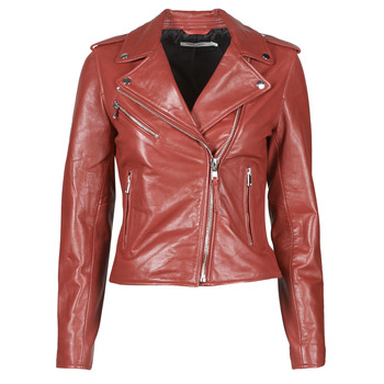 material Women Leather jackets / Imitation leather Naf Naf CHACHA P Red