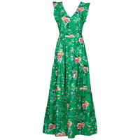 material Women Long Dresses Naf Naf EGARDEN R1 Green