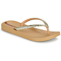 Shoes Women Flip flops Ipanema IPANEMA MESH V FEM Beige / Gold