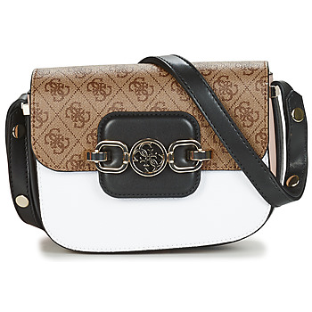 Bags Women Shoulder bags Guess HENSELY MINI CONVERTIBLE XBODY White / Black / Brown
