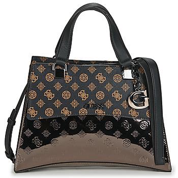 Bags Women Handbags Guess DALMA GIRLFRIENF SATCHEL Brown / Black