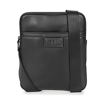 Bags Men Pouches / Clutches Guess SCALA CROSSBODY FLAT Black