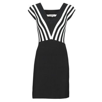 material Women Short Dresses Morgan RMUST Black / White