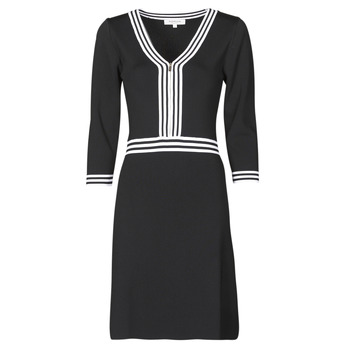 material Women Short Dresses Morgan RMFATA Black / White