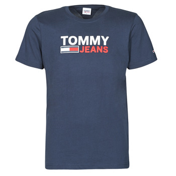material Men short-sleeved t-shirts Tommy Jeans TJM CORP LOGO TEE Marine
