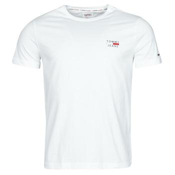 material Men short-sleeved t-shirts Tommy Jeans TJM CHEST LOGO TEE White