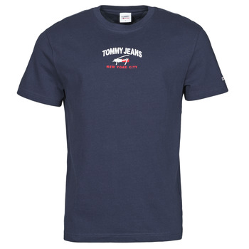 material Men short-sleeved t-shirts Tommy Jeans TJM TIMELESS TOMMY SCRIPT TEE Marine