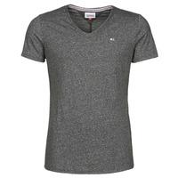 material Men short-sleeved t-shirts Tommy Jeans TJM SLIM JASPE V NECK Black